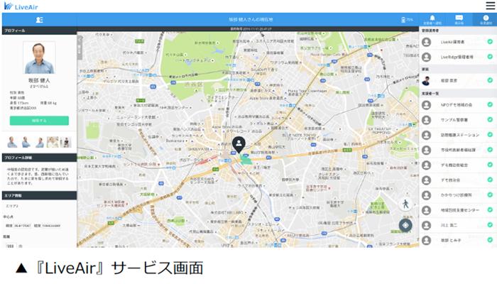 LiveAir_サービス画面